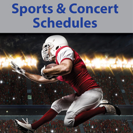 Sports and concert schedules Postcards